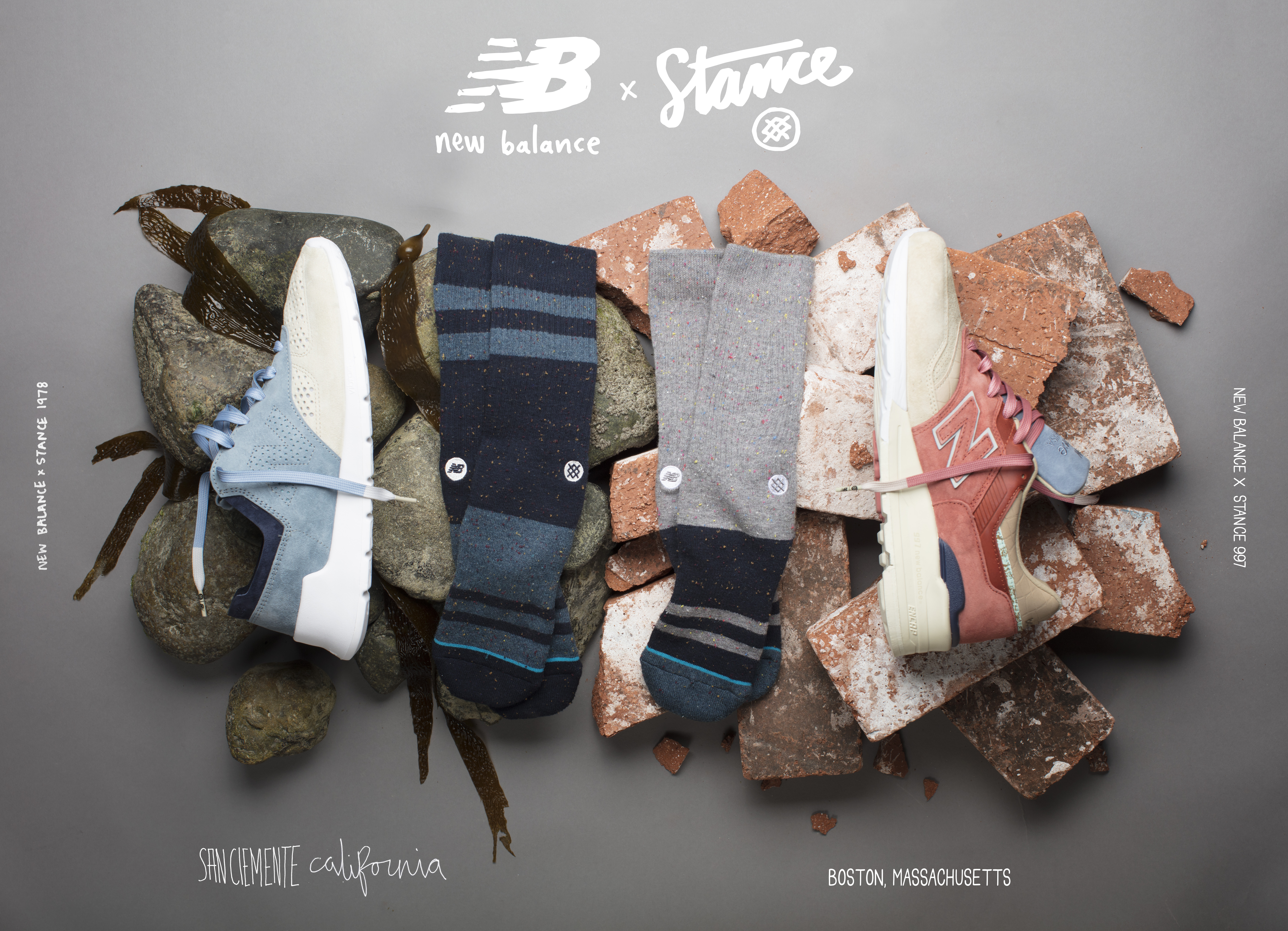 """NEW BALANCE X STANCE """"First of all"""" (Boston & San Clemente)"""