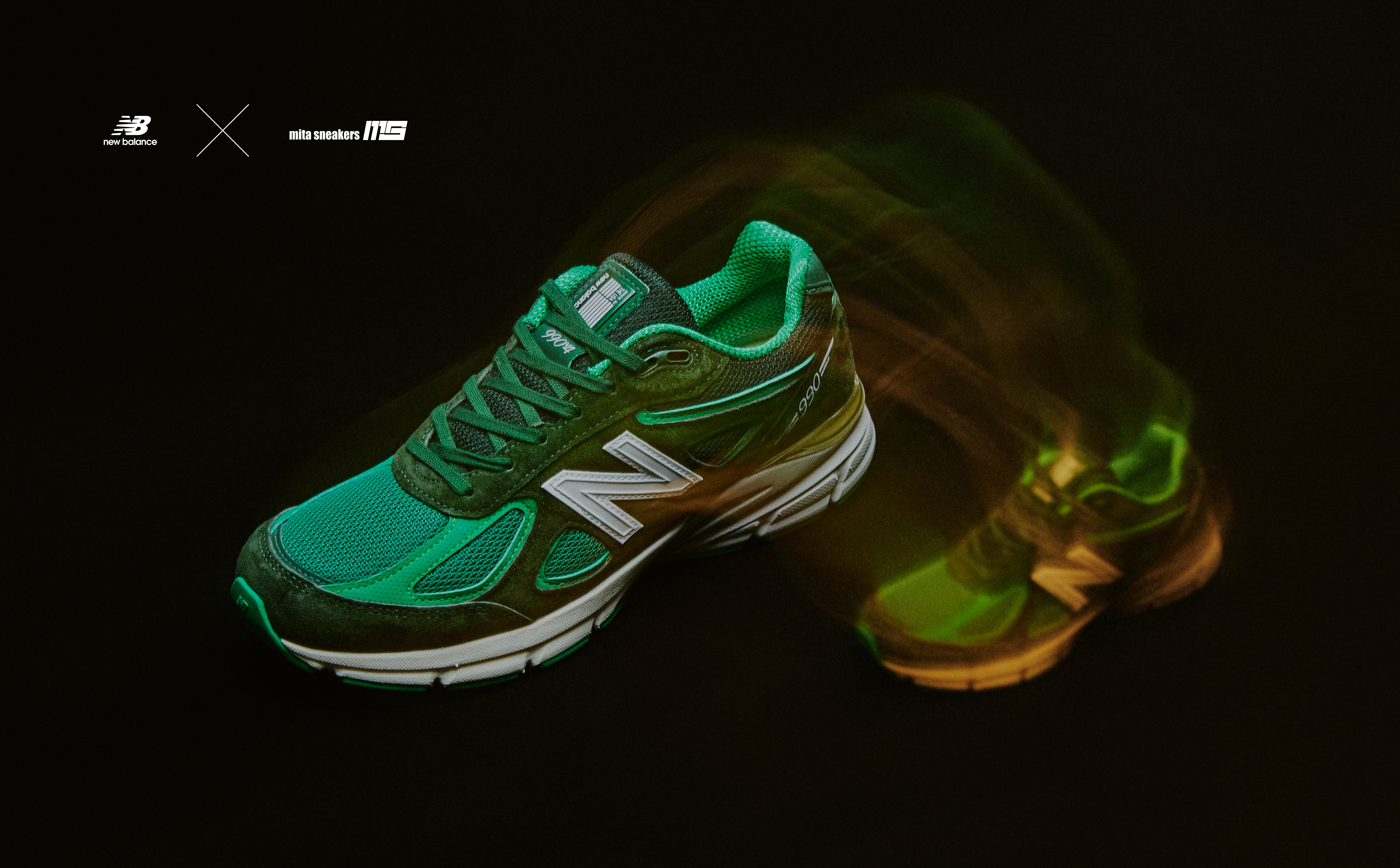 """MITA SNEAKERS X NEW BALANCE M990 V4 made in U.S.A. """"Bouncing frog"""""""