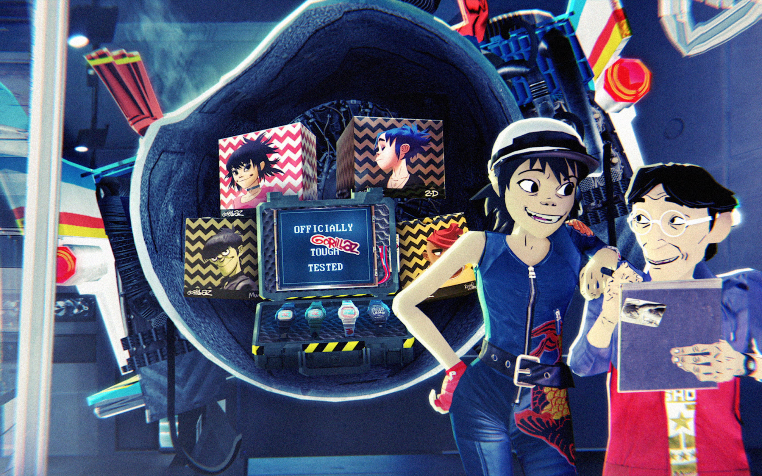 """GORILLAZ X G-SHOCK """"G-Time is now"""""""