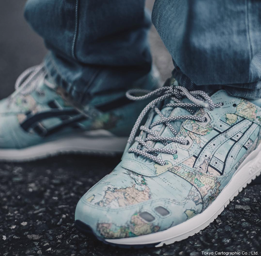 "ASICS GEL LYTE III ""WORLD MAP"" ATMOS EXCLUSIVE"