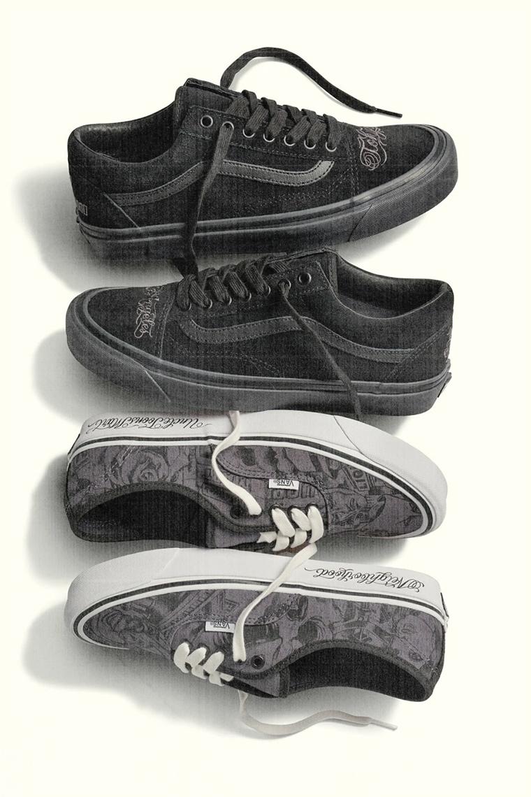 vans blanche avec trait noir