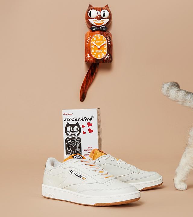 Size? x Kit-Cat Klock x Reebok Club C