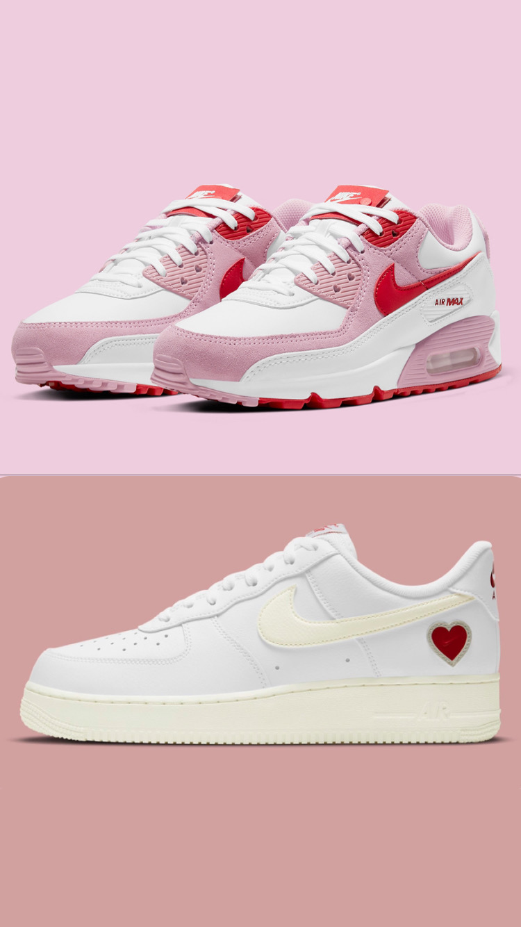 Air Max 90 & Air Force 1 Low « Valentine's Day » 2021 - SELECTA BISSO