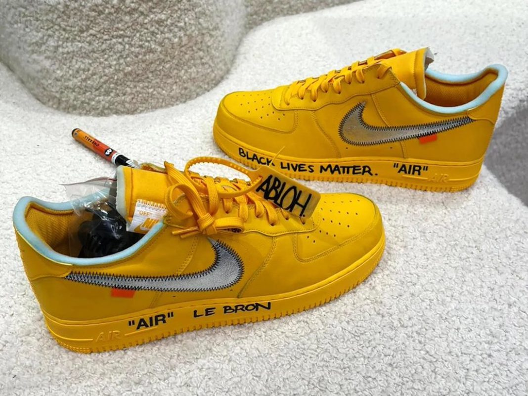 Off-White x Nike Air Force 1 Low « University Gold » - SELECTA BISSO